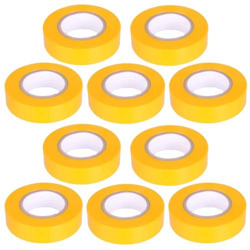 10pezzi–Nastro isolante in PVC nastro 10metri di lunghezza 15mm di larghezza–giallo -