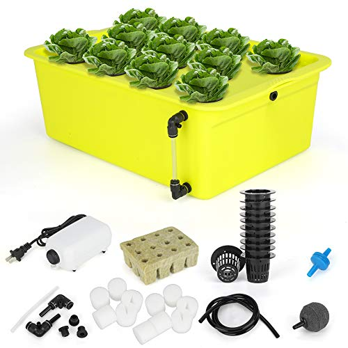 GROWNEER 11 Sites Hydroponics Grower Kit Household DWC Hydroponic System...