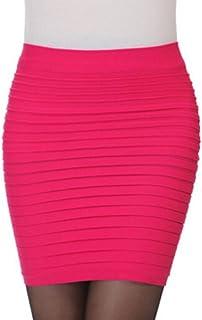 bdbf19cbd8 Women Skirt Daoroka Sexy High Waist Elastic Pleated Slim Bodycon Mini Party  Cocktail Fashion
