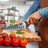 SHAN ZU Kochmesser, Santokumesser Küchenmesser 18cm Damaskus AUS-10 Edelstahl Scharfe Messerklinge Ergonomischer G10 Griff Exquisiter Geschenkverpackun - 4