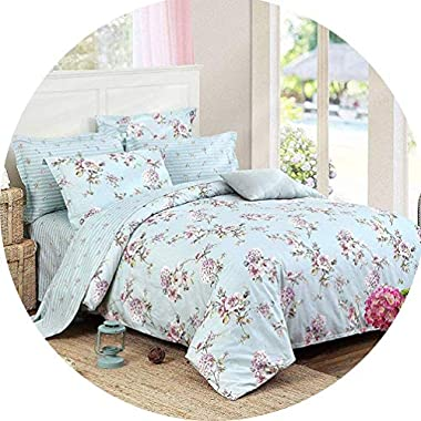 FADFAY Bed in a Bag Set 7-Pieces Shabby Floral...
