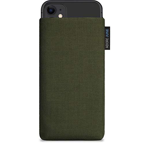 Adore June Classic Verde-Oliva Funda Compatible con Apple iPhone 11, Material Resistente Efecto Limpiador de Pantalla