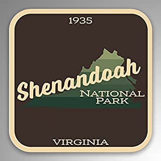 JMM Industries Shenandoah National Park Vinyl Decal Sticker Car Window Bumper 2-Pack 4-Inches by 4-Inches Premium Quality UV Protective Laminate NPS111