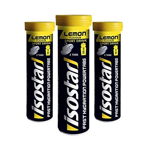 Isostar Fast Hydration Powertabs Lemon, verpakking van 3 stuks