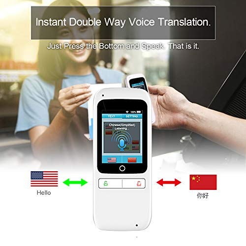 Language Translator Device Pocket AI Voice Translator Device Support 180 Countries Two Way Instant Translation Record/Text Translator with 2.4 Touch Screen – FFF SMART LIFE CONNECTED Photo #4