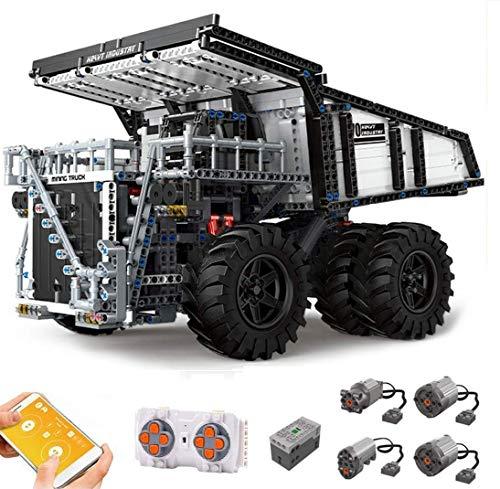 Foxcm Technik Liebherr T284 Muldenkipper, Technic Ferngesteuert Kipper mit Motoren, 2044 Teile Bausteine Kompatibel...