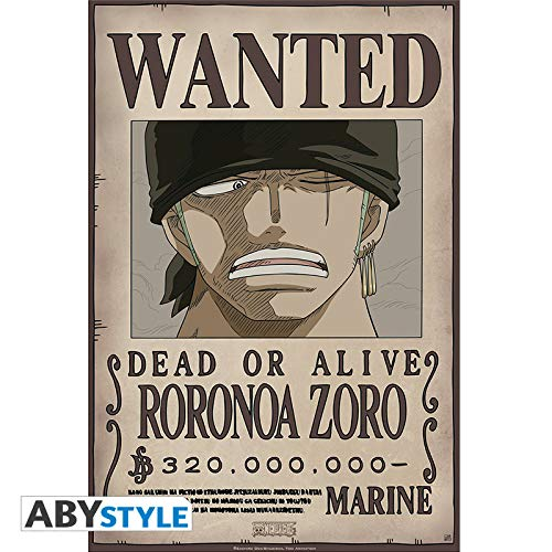 "ABYstyle One Piece - Póster de ""Wanted Zoro New"" (52 x 35)"