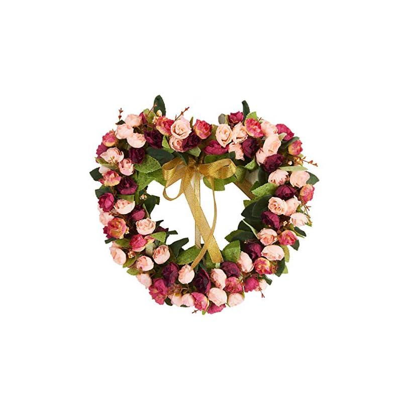 silk flower arrangements baigio woman flower wreath handmade artificial floral silk wreath for front door home wall wedding decoration