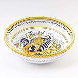 thatsArte.com - Italian Ceramic 8-inch Soup & Pasta Bowl Raffaellesco - Deruta Pottery, Italian Hand Painted Pasta Bowl, Small Serving Bowl, Deruta Dinnerware, Handmade Ceramic Bowl, Italian Soup Bowl