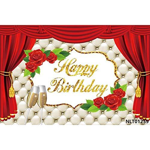 Globos Cintas con purpurina 18 20 30 40 Cumpleaños Fotografía Fondos personalizados Fotográficos Decoración de fiesta A5 9 x 6 pies / 2,7 x 1,8 m