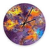 Reloj silencioso de 10 pulgadas para decoración de pared, relojes de madera vintage que no hacen tictac, fáciles de leer para oficina / cocina / dormitorio / sala de estar / aula, deslumbrante reloj d