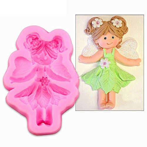 Kicode Duende de hadas 3D Puerta de casa DIY Torta de silicona de molde Molde de fondant Herramientas de decoración Paste Cookies Chocolate Candy
