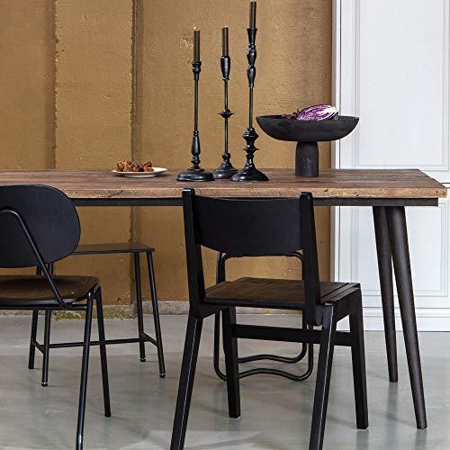 De Eekhoorn Esstisch Guild 220 x 90 cm Ulmenholz Metall Esszimmertisch Tisch Dinnertisch