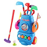 deAO Jóvenes Golfistas Divertido Juego de Golf para Principiantes Conjunto Infantil Incluye Palo de...