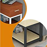 NBVCX Furniture Decoration Solid Wood Sofa Side Table Office Corner Table Leisure Table Writing Double Layer with Drawer 3 100 * 30cm
