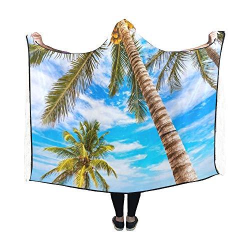 Yushg Mit Kapuze Decke Tropical Resort Mexiko Riviera Maya Decke 60 x 50 Zoll Comfotable Hooded Throw Wrap