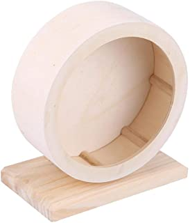 Hamster Small Pets Wooden House Funny Wheel Running Rest Nest Playing Exercise Toy Cage Accessory(M: 20 * 23.5cm/7.87 * 9....