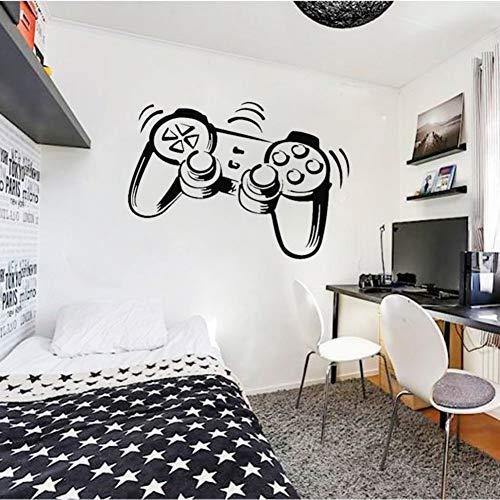 SUPWALS Pegatinas de pared Playstation Controller Ps3 Ps4 Juego Wall Art Stickers Calcomanías Para Niños Habitaciones Para Niños Vinilo Mural Extraíble Decoración De La Habitación Del Hogar 42X58 Cm