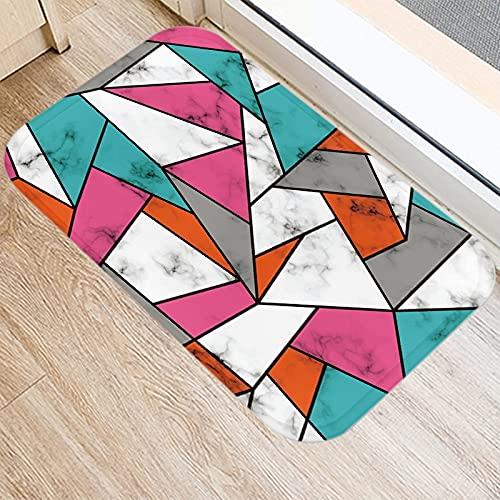 OPLJ Alfombra de Puerta de Entrada de Cocina con impresión geométrica de mármol, Alfombrilla Interior Antideslizante, Alfombra Lavable, Alfombra A11 40x60cm