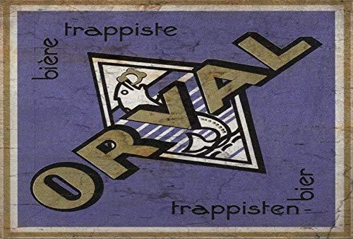 HONGXIN Orval Belgisches Lager Bier Metallschilder Wanddekoration Vintage Wohnaccessoires Barzubehör Wohnaccessoires Küchenzubehör für Zuhause Mann Höhle Schilder