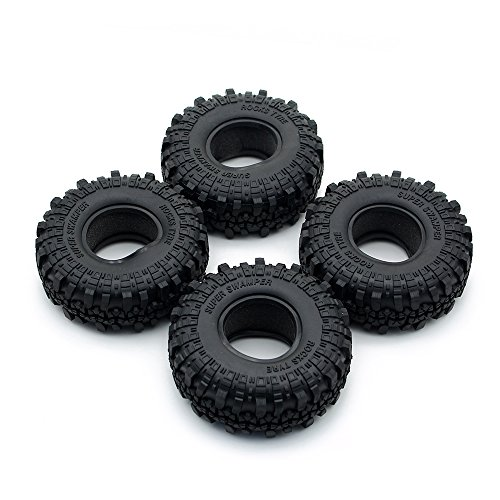 INJORA 4 Stücke 1,9 RC Crawler Reifen, Reifen Set für 1:10 RC Rock Crawler Axial SCX10 90046 SCX10 III AXI03007 Tamiya CC01 D90 D110