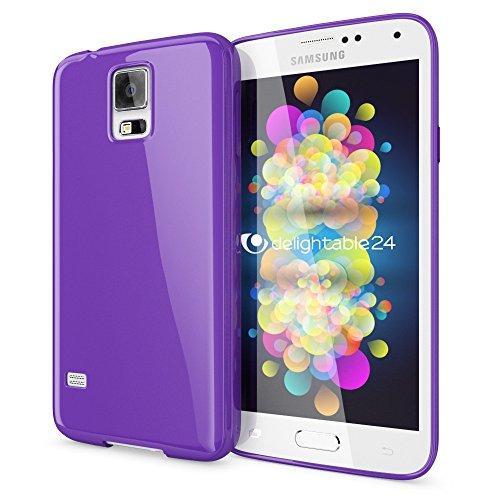 NALIA Custodia compatibile con Samsung Galaxy S5 S5 Neo, Cover Protezione Ultra-Slim Case Protettiva Morbido Cellulare in Silicone Gel, Gomma Jelly Telefono Bumper Sottile - Viola