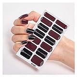Accesorios de uñas Etiqueta engomada del clavo Set adhesivo autoadhesivo Etiqueta engomada de uñas Tipo de uñas Pegatina Etiqueta engomada para nails Foil Nail Art Sticker 2020 Shiny ( Farbe : AF033 )