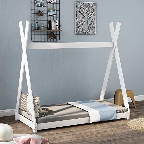 Schönes Hausbett Kinderbett, Indisches Bett Kinderhaus Massivholz Zelt Holz mit...
