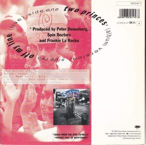 """Spin Doctors - Two Princes / Off My Line (Live) (7"""" Vinyl SinglE)"""
