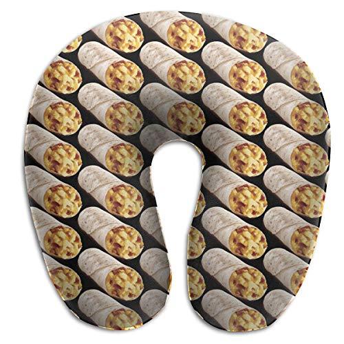 Reise U-förmiges Kissen Nackenkissen für Nackenschmerzen Seitenschläfer Nackenstützkissen für Flugzeuge Büro Auto- (Taco Burrito Muster)