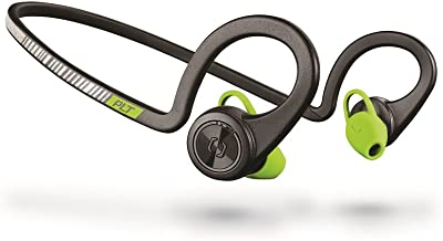 Plantronics BackBeat FIT Wireless Bluetooth Headphones - Waterproof Earbuds with On-Ear Controls for Running and Workout, Black Core