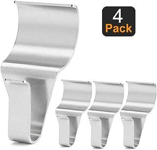 AEAKER Vinyl Siding Hooks (4 Pack), Heavy Duty Stainless Steel Low Profile No-Hole Vinyl Siding Clips for Hanging