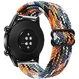 Yaspark Adatto per Huawei Watch GT Pro Cinturino, Fascia Elastica in Nylon Intrecciato da 22mm Compatibile with Huawei Watch GT2 Pro/GT 2 46mm/Galaxy Watch 3 45mm/Gear S3 Frontier