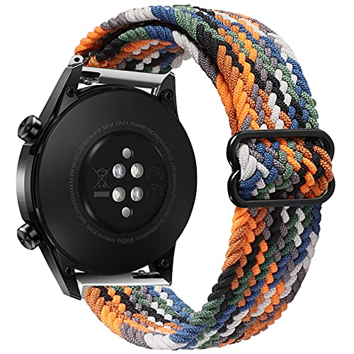 Yaspark Correa Compatible con Huawei Watch GT Pro, 22mm Trenzadas elásticas para Nylon Correa para Huawei Watch GT2 Pro/GT 2 46mm/Galaxy Watch 3 45mm/Gear S3 Frontier