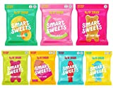 Feel good about candy with SmartSweets! Just 3g of sugar for the entire bag, naturally sweetened with Stevia & free from sugar alcohols. 90-120 calories per bag! Mouthwatering gummy candy that is a radically better choice, free from sugar alcohols, a...
