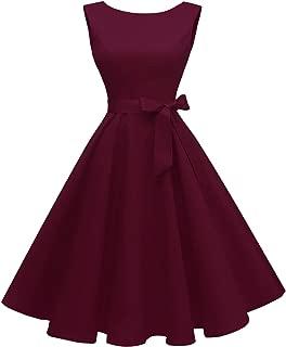 Best burgundy vintage dresses Reviews