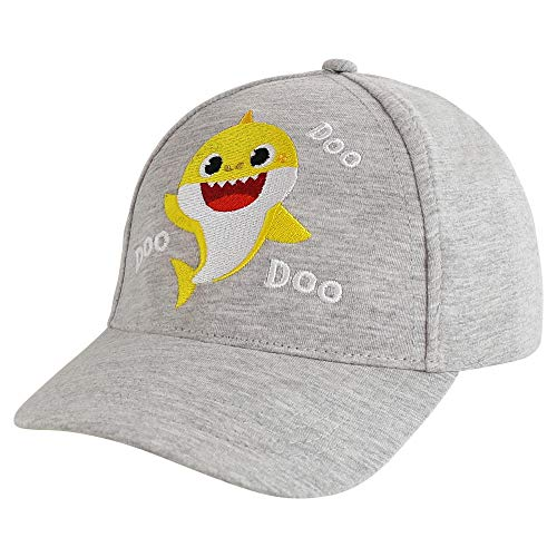 Pinkfong boys Cap, Baby Shark Toddler Hat for Ages 2-4 Baseball Cap, Gray, 2-4T US