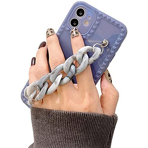 NZAUA Funda para teléfono móvil de Pulsera ámbar, Adecuada para iPhone 12 Pro MAX Funda Protectora Protectora Resistente a los rasguños, niña de Moda, Caja de teléfono móv iphone11pro