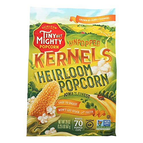 Tiny But Mighty Heirloom Popcorn, Healthy and Delicious, Unpopped...
