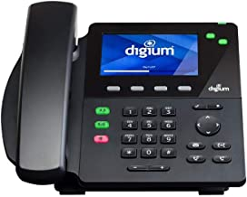 Digium D62 IP Phone 2-Line SIP with HD Voice, Gigabit, 4.3 Inch Color Display, Icon Keys
