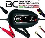 BC Battery Controller BC EASY 4, Caricabatteria e Mantenitore Intelligente a 4 Cicli per tutte le Batterie Auto e Moto 12V Piombo-Acido, 1 Amp