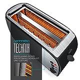 Arendo – Automatik Toaster Langschlitz   Defrost Funktion   wärmeisolierendes Gehäuse   Abnehmbarer Brötchenaufsatz   1200W-1500W     7 Stufen   herausziehbare Krümelschublade - 3