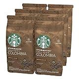 Starbucks Single-Origin Colombia Café molido de tostado medio, 6 x bolsa de 200g