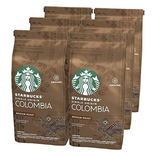 Starbucks Single Origin Colombia Medium Roast Ground Coffee 200 g Bag (Pack of 6)