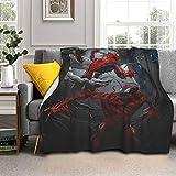 ZTLKFL Ve-Nom Spi-Derm-An - Manta para cama de matrimonio, ultra suave, de microforro polar, cálida y esponjosa, para sala de estar, 203 cm x 60 cm