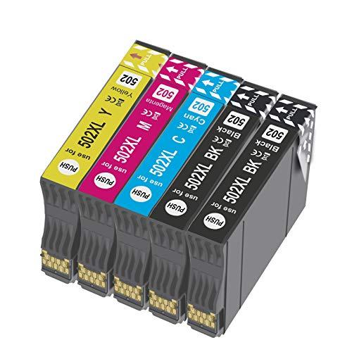 OGOUGUAN 502 XL Reemplazo para 502XL Cartuchos de Tinta Compatiable con Expression Home XP-5100 XP5100 XP-5105 XP5105, Workforce WF-2860DWF WF-2865DWF WF-2860 WF-2865 (5 Paquete)