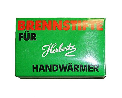 Herbertz Kohlebrennstifte für Taschenwärmer, Packung à 12 Stück