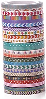 AGU 24 Rolls Masking Washi Tape Cute Planner Sticker 3mm Slim Tapes for Decoration and DIY Craft