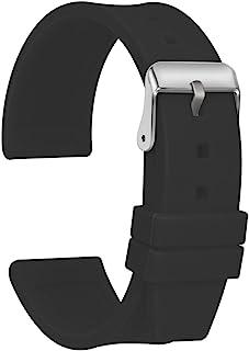 Ullchro Bracelet Montre Haute Qualité Remplacer Silicone Bracelet Montre Imperméable Flexible Lisse - 16,18,20,22,24,26,28...