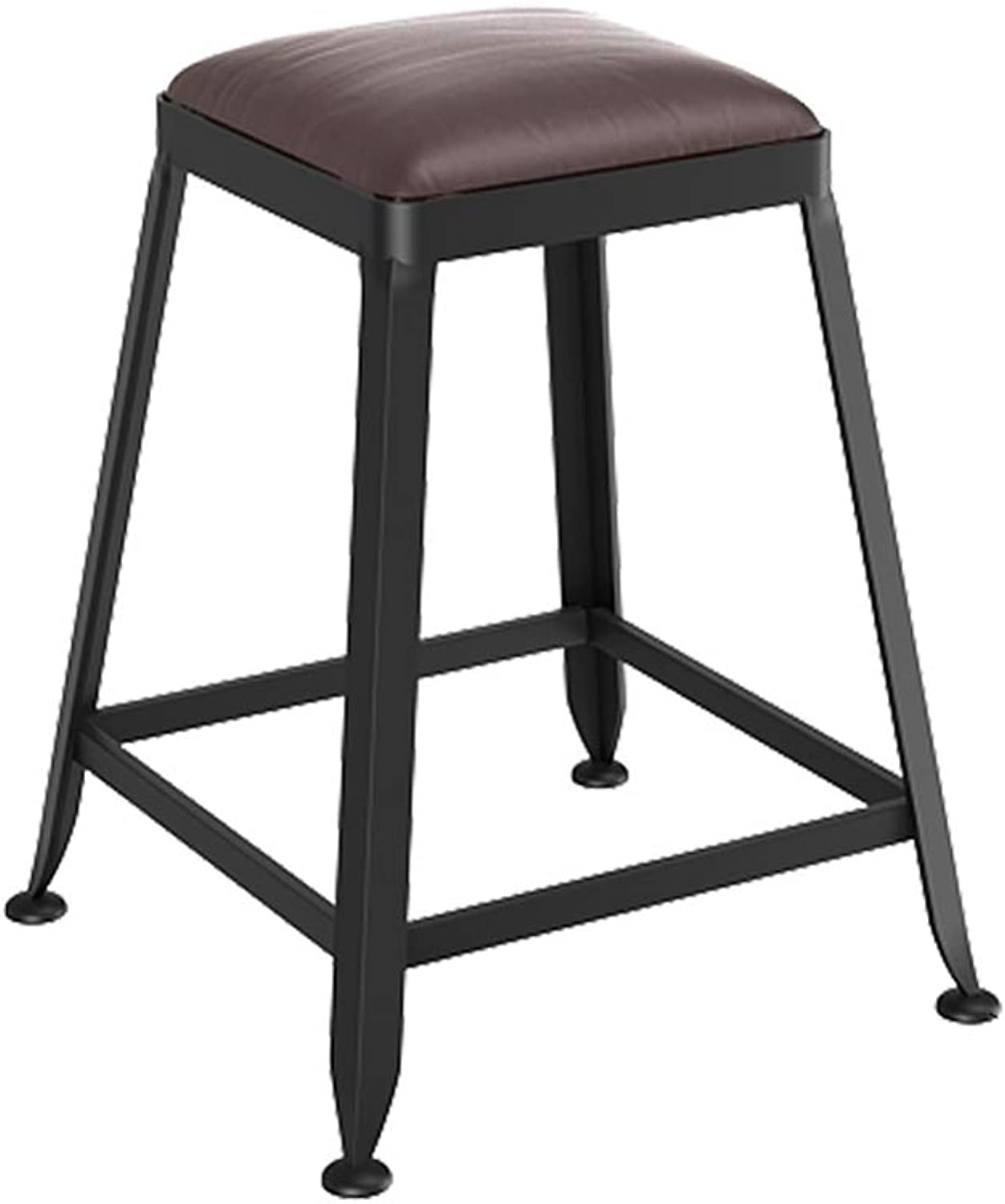 Aidriney- European Bar Stools Solid Wood Wrought Iron Bar Stool Bar Stool Chair High Stool Bar Stool (color   E)